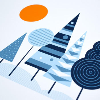 Woodland screen print detail two by The Lost Fox at Of Cabbages and Kings