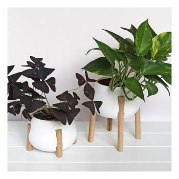 Tall White Legged Planter lifestyle by Studio Nilli at Of Cabbages and Kings