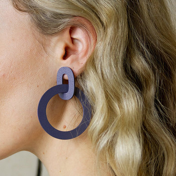 Orla II Earrings blue made two from Wolf and Moon at Of Cabbages and Kings