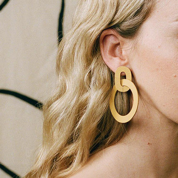 Orla II Earrings yellow model one from Wolf and Moon at Of Cabbages and KIngs