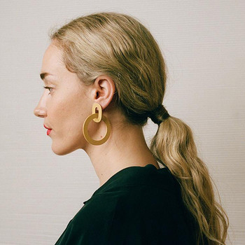 Orla II Earrings yellow model three from Wolf and Moon at Of Cabbages and KIngs