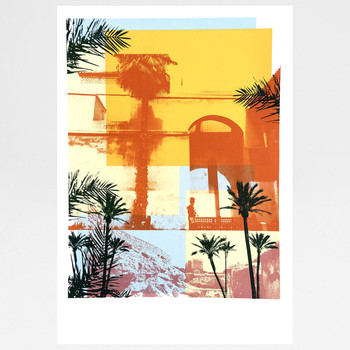 Moroccan Haze screen print by Caitlin Parks at Of Cabbages and Kings