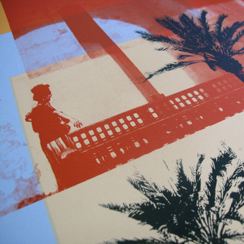 Moroccan Haze screen print balcony detail by Caitlin Parks at Of Cabbages and Kings