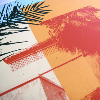 Moroccan Haze screen print detail by Caitlin Parks at Of Cabbages and Kings