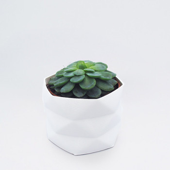 Large 3D Printed Geometric Planter white by Studio Nilli at Of Cabbages and Kings