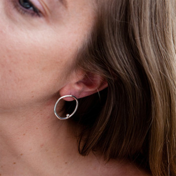 Single A Earrings by Karina Banks at Of Cabbages and Kings
