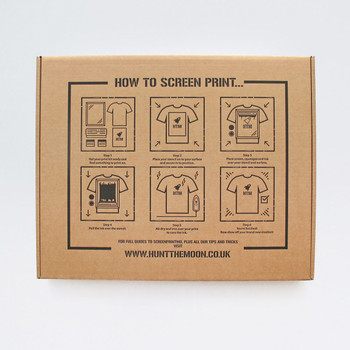 A3 Screen Printing Kit box by Hunt The Moon at Of Cabbages and Kings