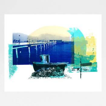 Deal Town screen print by Melissa North at Of Cabbages and Kings
