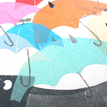 Singing in the Rain collage umbrella detail by Factory Press at Of Cabbages and Kings