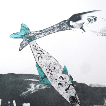 Cormorant and Fish screen print fish detail by Factory Press at Of Cabbages and Kings