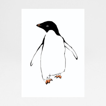 Penguin screen print by Tiff Howick at Of Cabbages and Kings