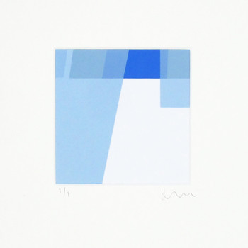 Detail of Colour Study in Blue II by Jonathan Lawes at Of Cabbages and Kings