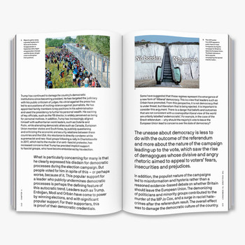 Is Democracy Failing? - The Big Idea Book Double Page Spread Four by Thames and Hudson at Of Cabbages and Kings