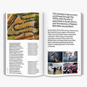 Is Democracy Failing? - The Big Idea Book Double Page Spread Five by Thames and Hudson at Of Cabbages and Kings