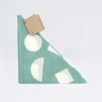 Organic Cotton Wrap - Shapes, Turquoise by Ola at Of Cabbages and Kings