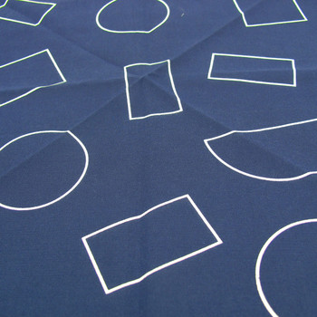Organic Cotton Wrap - Shapes, Indigo detail by Ola at Of Cabbages and Kings