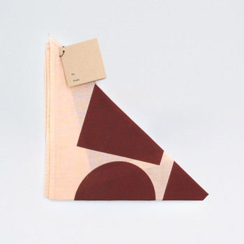 Organic Cotton Wrap - Blocks, Salmon by Ola at Of Cabbages and Kings
