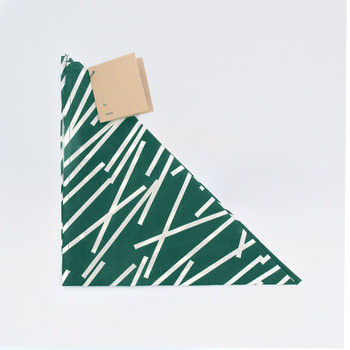 Organic Cotton Wrap - Lines, Forest Green by Ola at Of Cabbages and Kings