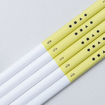 Set of 3 Colourblock Pencils - 3H detail by Ola at Of Cabbages and Kings