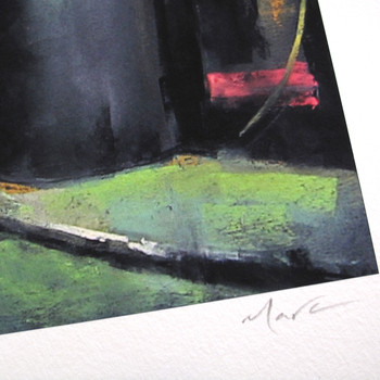 Fall Of Night art print signature detail by Marc Gooderham at Of Cabbages and Kings