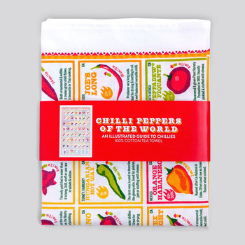 Chilli Peppers of the World Tea Towel by Stuart Gardiner at Of Cabbages & Kings