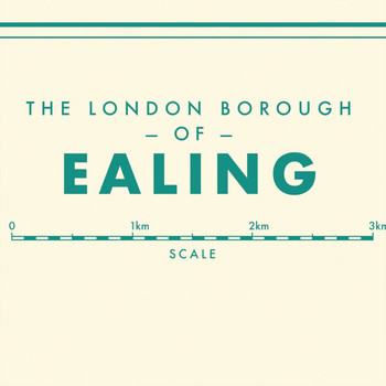 Ealing Retro Map Print detail 01 by Mike Hall at Of Cabbages and Kings.