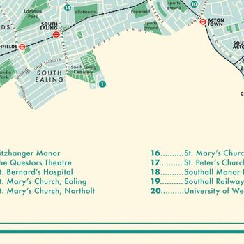 Ealing Retro Map Print