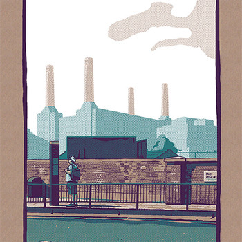 Battersea art print detail 01 by Liam Devereux at Of Cabbages and Kings