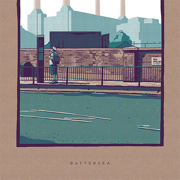 Battersea art print detail 02 by Liam Devereux at Of Cabbages and Kings