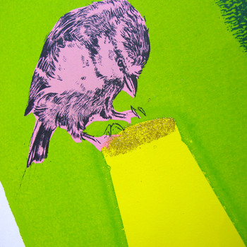 Gold Top screen print detail 01 by Anna Marrow at Of Cabbages and Kings
