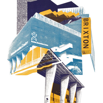 Brixton Rec print detail 02 by Underway Studio at Of Cabbages and Kings