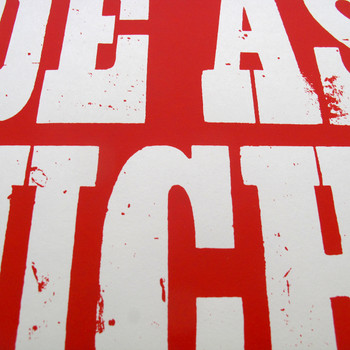 Ride (red) screen print detail 01 by Dynamo works at Of Cabbages and Kings