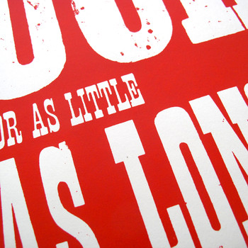 Ride (red) screen print detail 02 by Dynamo works at Of Cabbages and Kings
