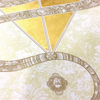The Diamond Headed Serpent screen print detail 01 by Fiftyseven Design available at Of Cabbages and Kings.