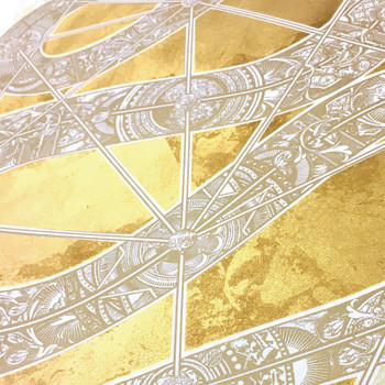 The Diamond Headed Serpent screen print detail 02 by Fiftyseven Design available at Of Cabbages and Kings.