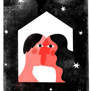 Love is Finding Home in Another risograph print detail 04 by Anastasia Beltyukova at Of Cabbages and Kings