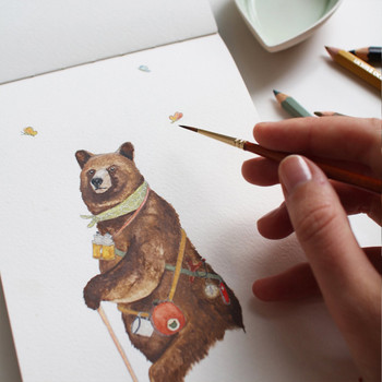 Here, Bear & Everywhere print detail by Mister Peebles at Of Cabbages and Kings.