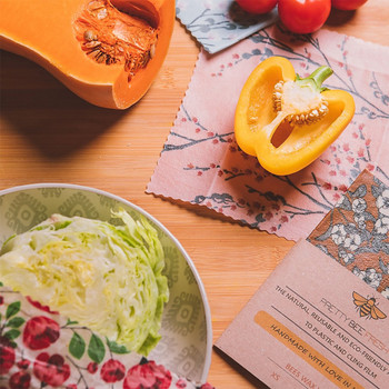 Beeswax Wrap - by Pretty Bee Fresh (wrapped food 04) at Of Cabbages and Kings