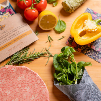 Beeswax Wrap - by Pretty Bee Fresh (wrapped food 01) at Of Cabbages and Kings
