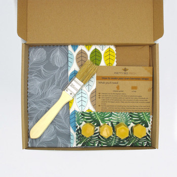 DIY Beeswax Wrap Kit - Leaves by Pretty Bee Fresh at Of Cabbages and Kings