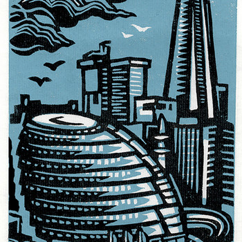 City Hall And Shard print detail by Jane Smith at Of Cabbages and Kings
