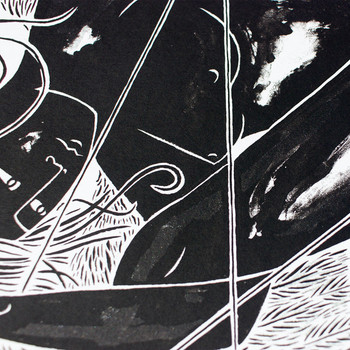 Starmaker screen print detail 04 by Tom Berry at Of Cabbages and Kings