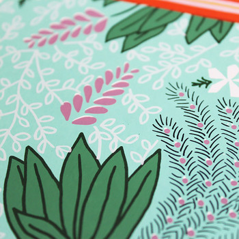 Jungle Cow screen print detail 02 by Claudia Borfiga available at Of Cabbages and Kings.