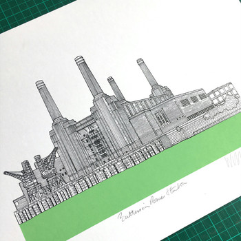 Battersea Power Station - Green screen print detail 01 by Will Clarke at Of Cabbages and Kings