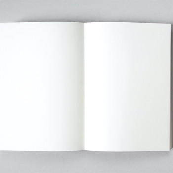 A5 Ruled Layflat Notebook - Sol Print, White detail 01 by Ola at Of Cabbages and Kings