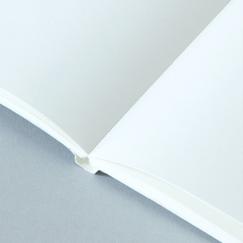 A5 Ruled Layflat Notebook - Sol Print, White detail 02 by Ola at Of Cabbages and Kings