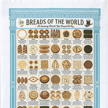 Breads of the World Tea Towel detail 01 by Stuart Gardiner at Of Cabbages and Kings