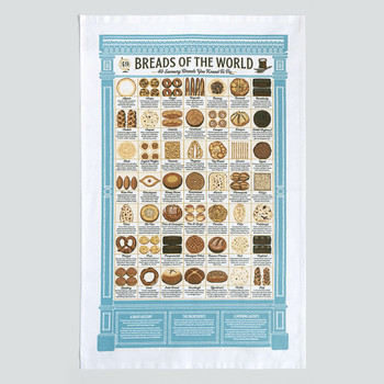 Breads of the World Tea Towel detail 02 by Stuart Gardiner at Of Cabbages and Kings