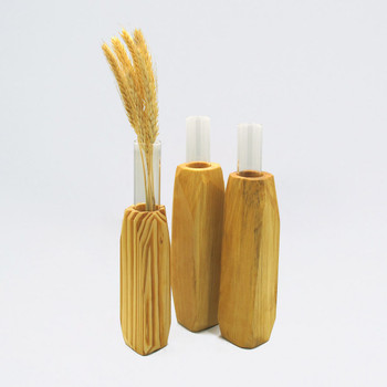 Medium Light Wooden Vase available in other sizes by Priormade at Of Cabbages and Kings