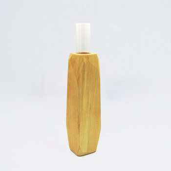 Medium Light Wooden Vase single 02 by Priormade at Of Cabbages and Kings
